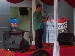 Bupati Garut Rudi Gunawan SH, MH, MP menyampaikan amanah Kepala BNN RI DR Anang Iskandar pada acara memperingati hari HANI sedunia di Kabupaten Garut. (Fhoto: BNNK Garut)