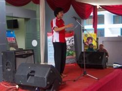 Sambutan Kepada BNNK Garut AKBP Widayati BA dalam acara memperingati HANI sedunia di Kabupaten Garut. (Fhoto: BNNK Garut)